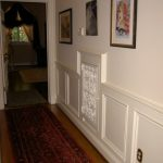 Traditional in Matte White in white wainscoting