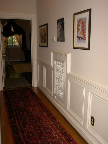 Traditional In Matte White In White Wainscoting Fancy Vents